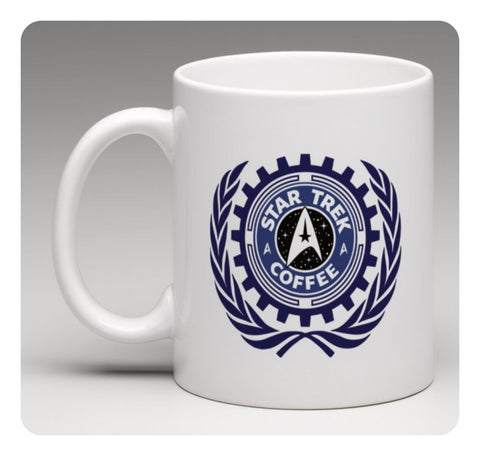 STAR TREK COFFEE - Joke White Porcelain Mug - Fun Gift Mug With Logo Novelty New