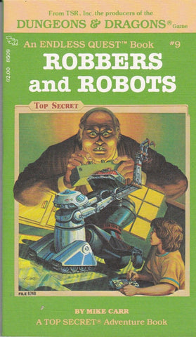 An Endless Quest Book: Robbers and Robots #9 by Mike Carr (Paperback) 1983 - Used