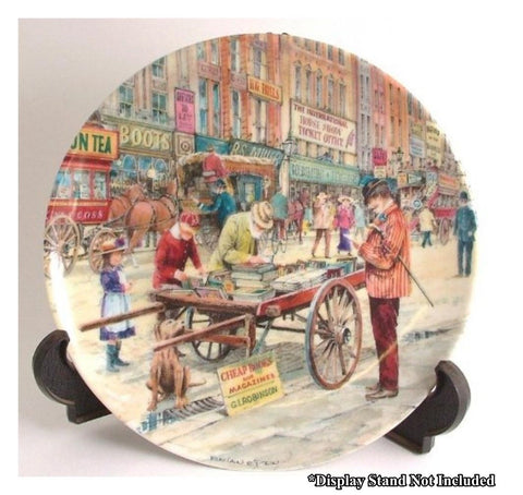 Davenport Pottery Collectors Plate - Brian Eden : The Bookseller No P9066