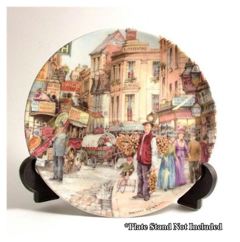 Davenport Pottery Collectors Plate - Brian Eden : The Onion Seller No. A5819