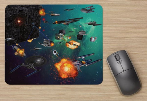 Unofficial Star Trek Inspired Borg VS Federation / Borg Invasion - Mouse Mat New