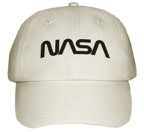 NASA Logo Space Science Moon Astronaut Light Khaki Cap With Logo On - New