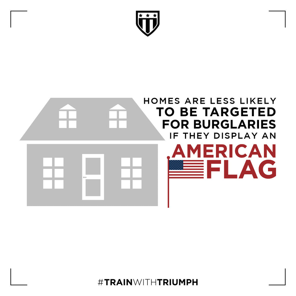 Using an American Flag to Prevent Burglaries