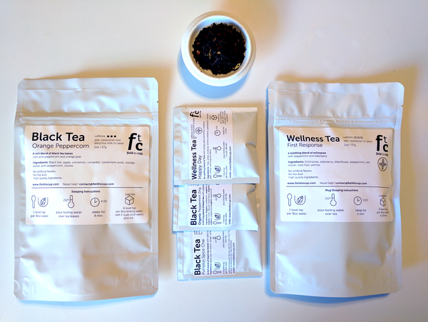 $20 Tea Gift - 2 packages of 2oz teas + tea sampler