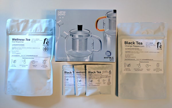 $40 Tea Gift - Samadoyo 480ml teapot + 2 packages of 2oz teas + tea sampler