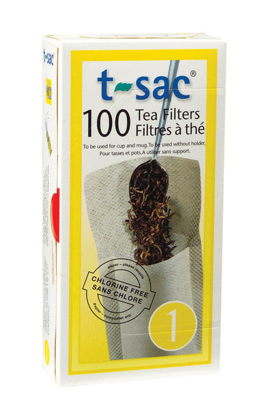 T-Sac Tea Filter Bags, Disposable Tea Infuser, Number 1 Size, 1-Cup Capacity, 100 Count