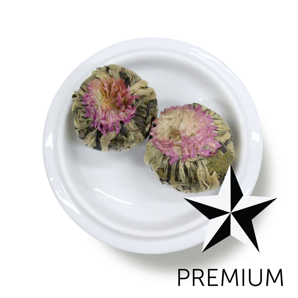 Premium Green Tea Jasmine Flower Bomb Field To Cup