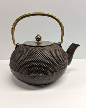 Brown Japanese Hobnail Cast Iron Teapot  - 56oz capacity