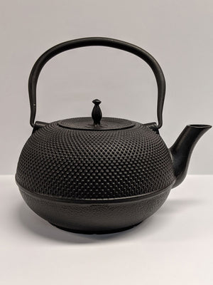 Modern Black Japanese Hobnail Cast Iron Teapot  - 56oz capacity