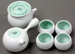 Porcelain Celadon Gong Fu Set with 4 cups