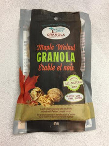 Maple Walnut granola 65 gram pack