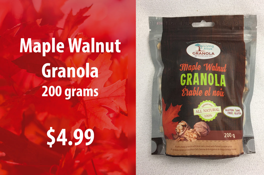 Maple Walnut Granola 200 grams
