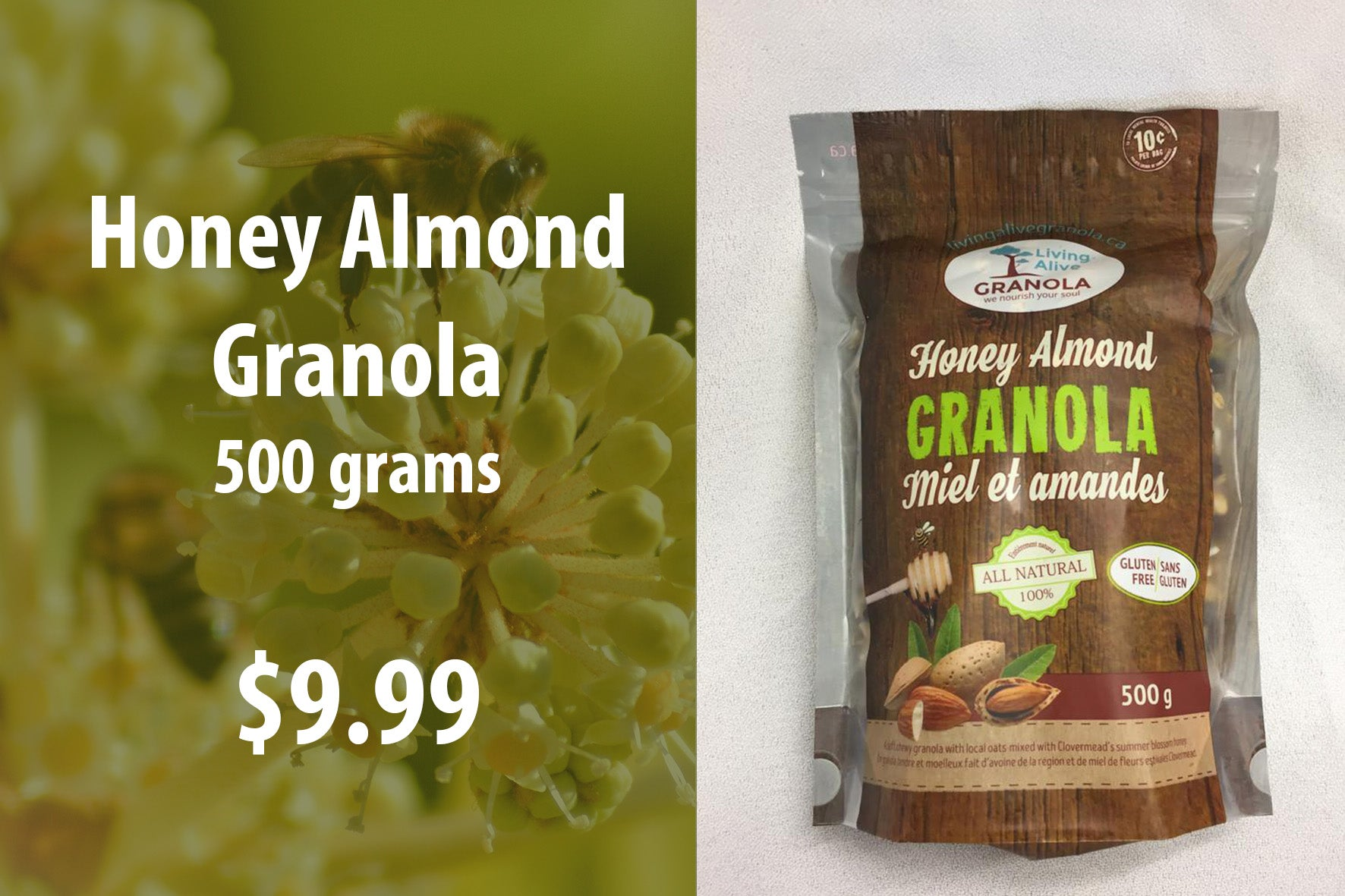 Honey Almond Granola 500 grams