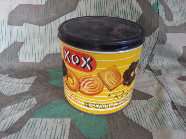 1930s / 1940s WWII German XOX Mixed Cookie Tin Yellow and Black