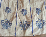 Apron with Blue Flower Needlework Designs
