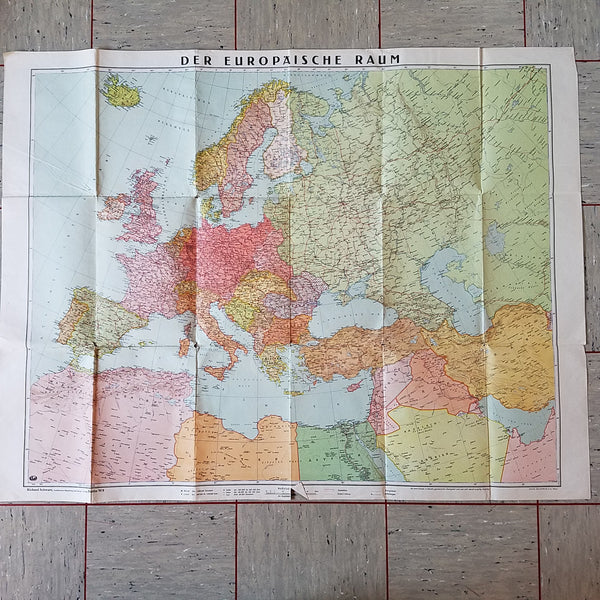 Tornister map of Europe 1943 Heft 91