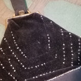 Black Handbag with Beads