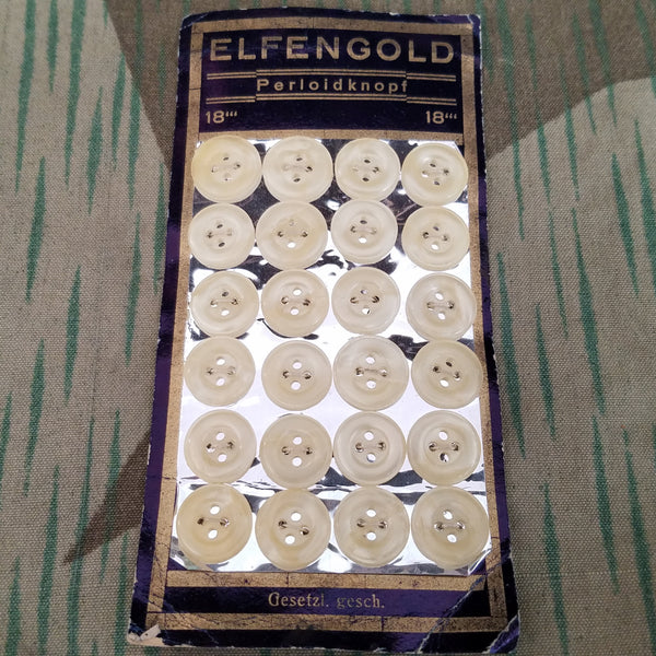Elfengold Perloidknopf Buttons on Card