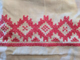 Apron with Red Needlework