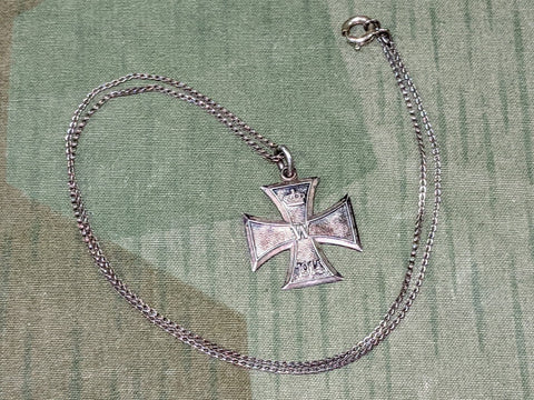 Iron Cross Necklace 835 Silver