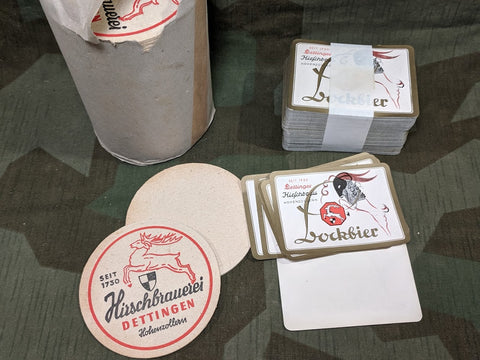 PW Hirschbraueri Dettingen Set of 3 Coasters and 12 Beer Labels