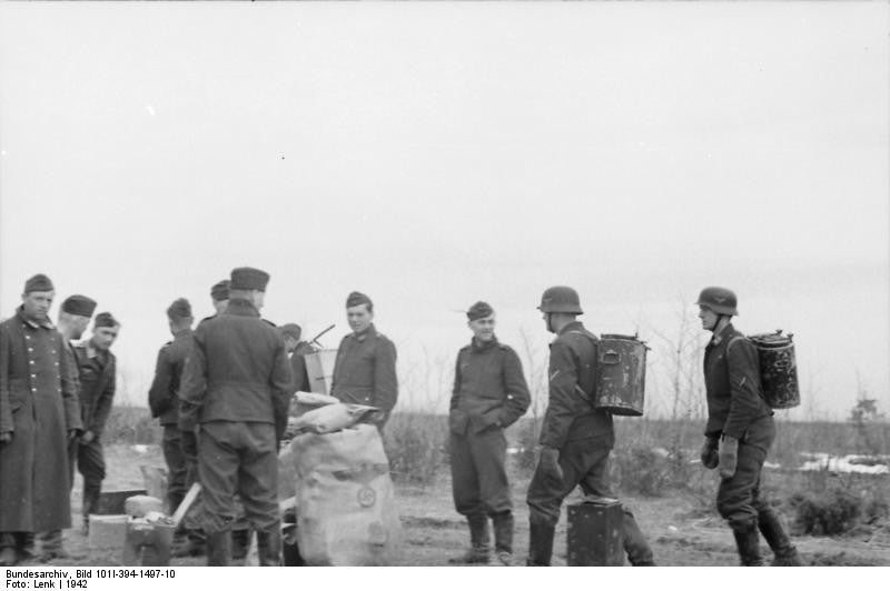 Image result for ww2 german soldier with grain sack