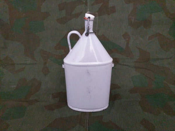 Gray Enamel Jug with Flip Top
