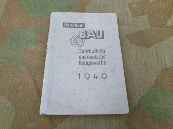 1940 Bau Construction Work Calendar Book