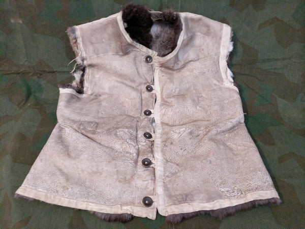 Large Size Rabbit Fur Vest