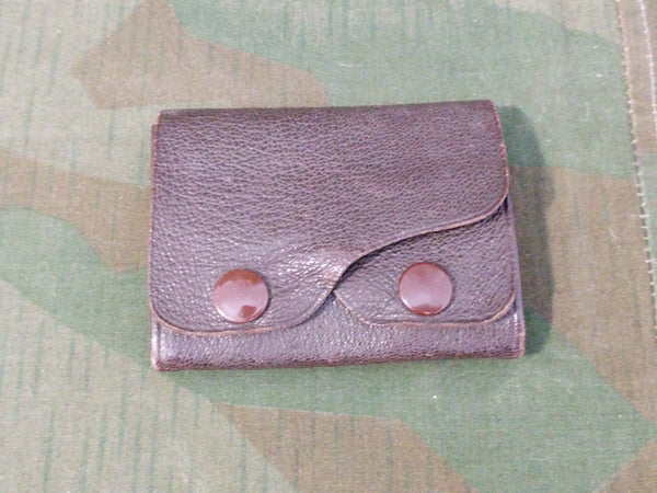 Small Brown Two Pocket Change Purse