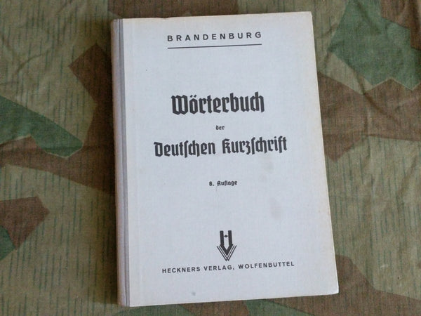 1941 German Shorthand Dictionary