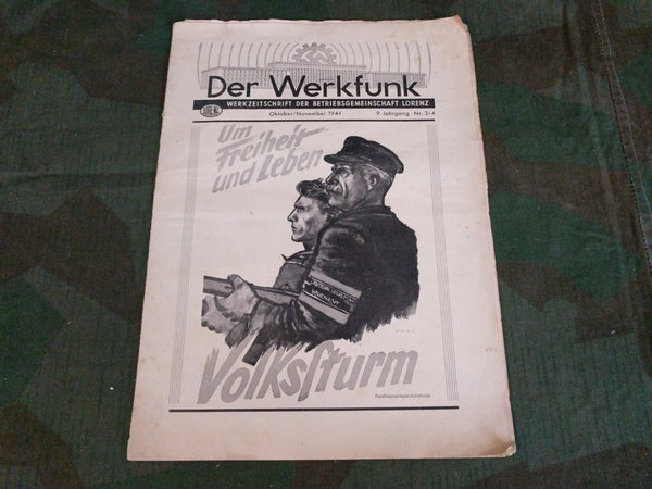 Der Werkfunk Okt./Nov. 1944 Lorenz Factory Newspaper