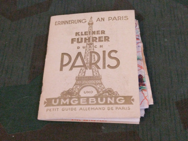 German Tour Book from Paris and Map