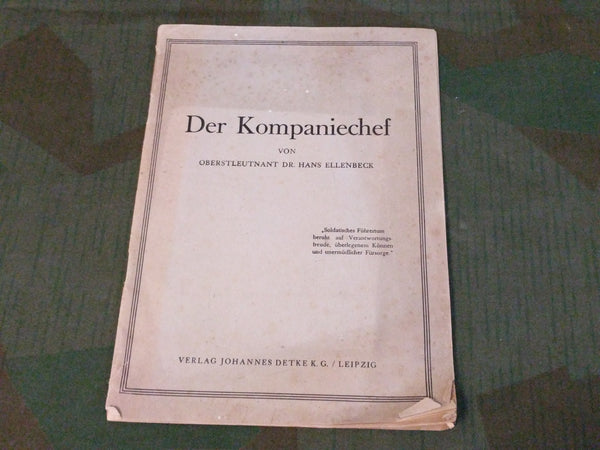 Der Kompaniechef 1943 Book on an Officer's Purpose