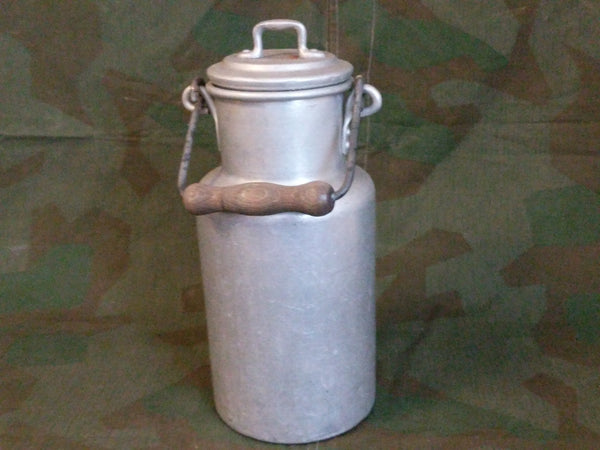 2L Aluminum Milk Can with Wood Handle