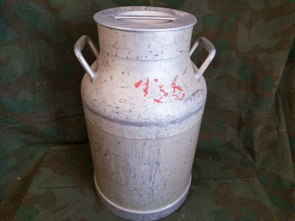 Large Aluminum German Milk Can