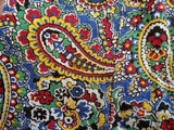 Colorful Paisley Print Wrap Dress
