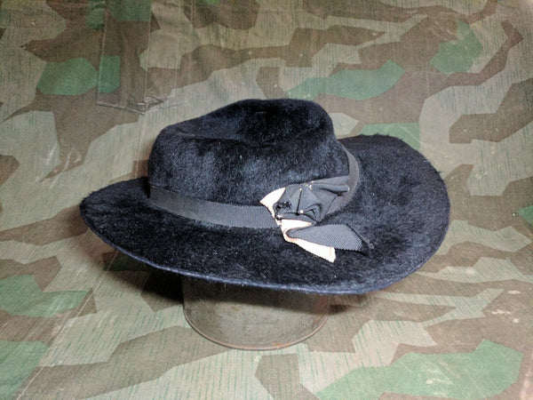 Black Fur Felt Hat