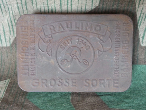 Original Pre-WWII German Raulino Tobacco Tin