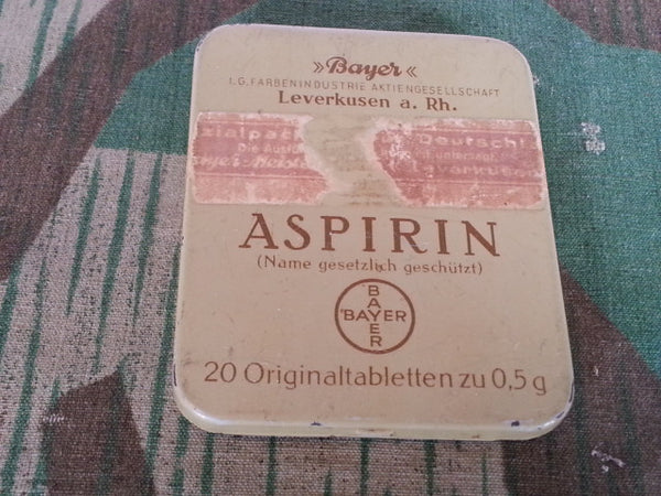 Original WWII German Bayer Asiprin Tin