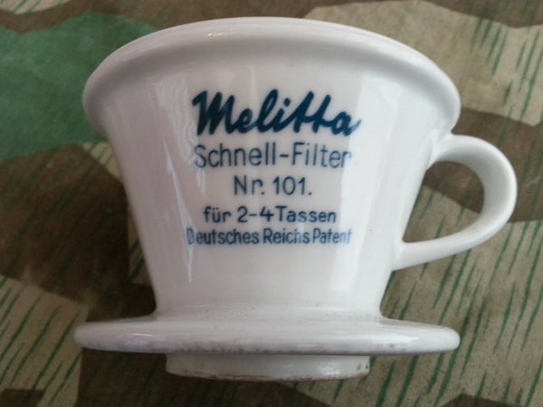 Original WWII German DRP Melitta 101 Coffee Funnel Cone