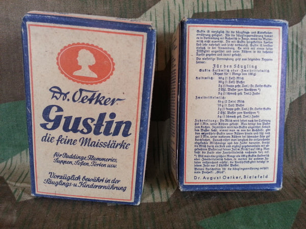 Original WWII German Dr. Oetker Gustin Cornstarch