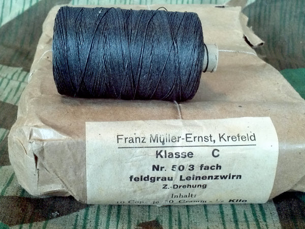 Original WWII German Feldgrau Linengarn Linen Thread