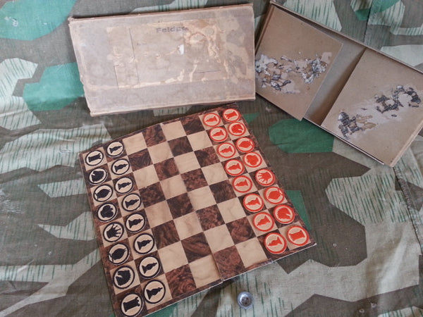 Original WWII German Feldpost Chess Game Complete