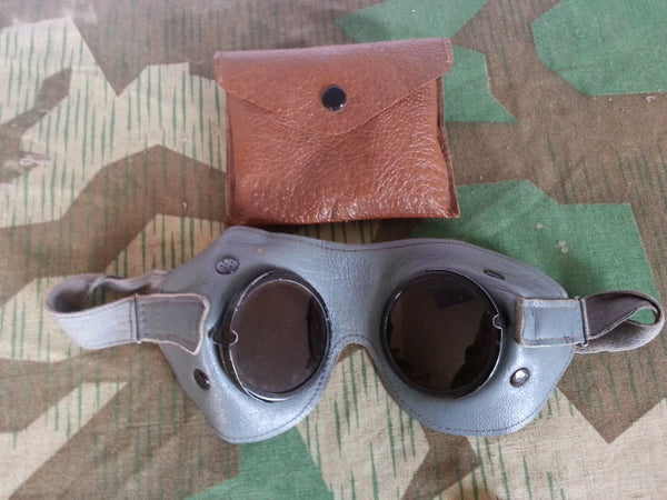 Original WWII German Goggles in Pouch