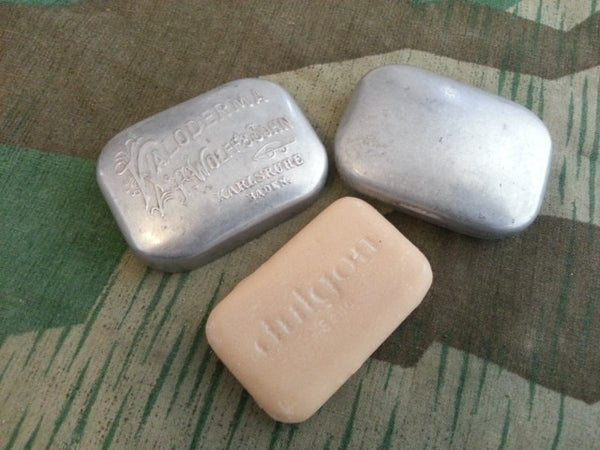 Original WWII German Kaloderma Aluminum Soap Tin