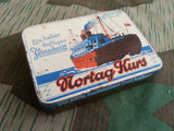 Original WWII German Nortag Kurs Tobacco Tin