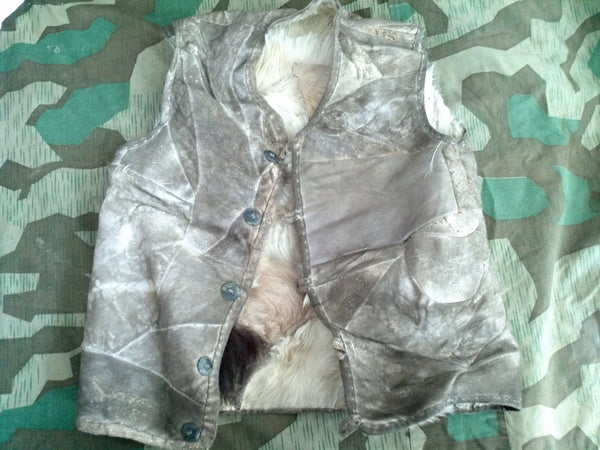 Original WWII German Rabbit Fur Vest