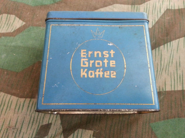 Pre-WWII German Ernst Grote Kaffee Blue Tin