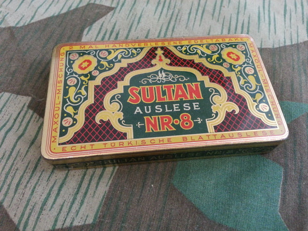 Pre-WWII German Sultan Auslese Nr.8 25 Cigarette Tin